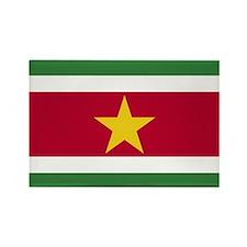 Flag of Suriname Rectangle Magnet