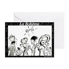 La Boheme black & white Greeting Cards (Package of