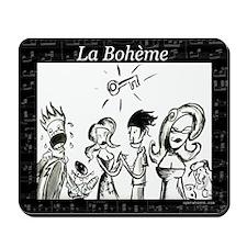 La Boheme black & white Mousepad