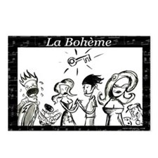 La Boheme black & white Postcards (Package of 8)