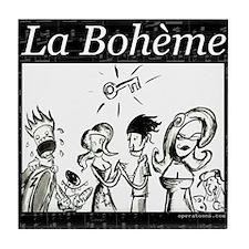 La Boheme black & white Tile Coaster
