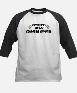 Clumber Spaniel: Property of Kids Baseball Jersey