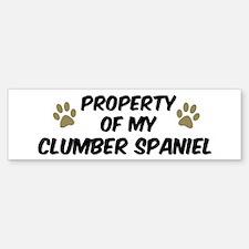 Clumber Spaniel: Property of Bumper Bumper Bumper Sticker
