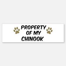 Chinook: Property of Bumper Bumper Bumper Sticker
