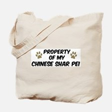 Chinese Shar Pei: Property of Tote Bag