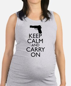 Keep Calm and Carry On Maternity Tank Top