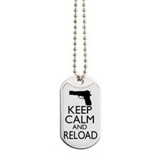 Keep Calm Reload Dog Tags