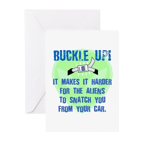 Alien Snatch Greeting Cards (Pack of 6)