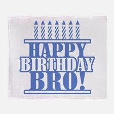Happy Birthday Brother Throw Blanket