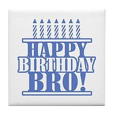 Happy Birthday Brother Tile Coaster