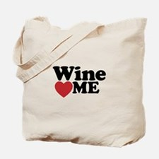 Wine Loves Me Tote Bag