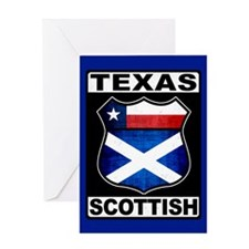 Texas Scottish American Greeting Card