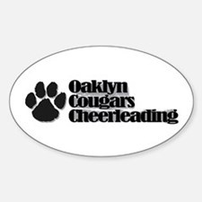 """Oaklyn Cougars """"Pawprint"""" Oval Decal"""