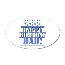 Happy Birthday Dad Wall Decal
