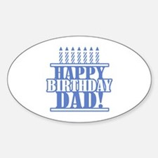 Happy Birthday Dad Decal