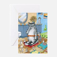 Cat 579 Greeting Card