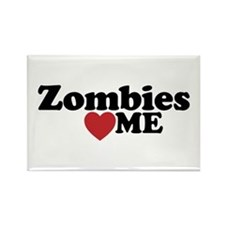 Zombies Love Me Rectangle Magnet
