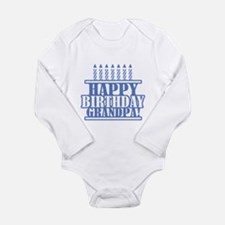 Happy Birthday Grandpa Long Sleeve Infant Bodysuit