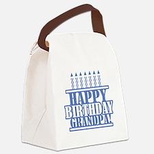 Happy Birthday Grandpa Canvas Lunch Bag