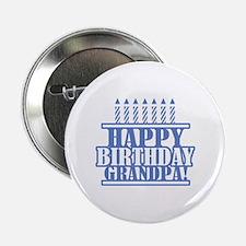 """Happy Birthday Grandpa 2.25"""" Button"""