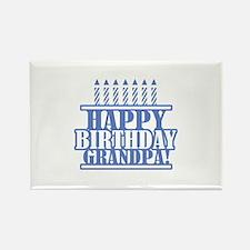 Happy Birthday Grandpa Rectangle Magnet