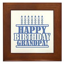Happy Birthday Grandpa Framed Tile
