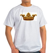 Gold King Crown Ash Grey T-Shirt