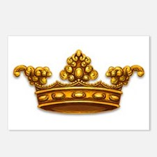 Gold King Crown Postcards (Package of 8)