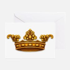 Gold King Crown Greeting Cards (Pk of 10)