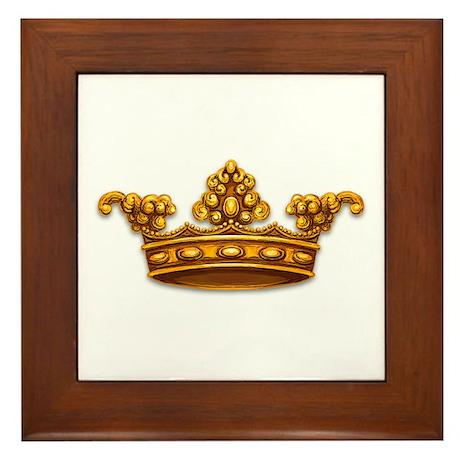 Gold King Crown Framed Tile