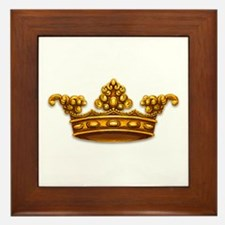 Gold King Crown Framed Tile