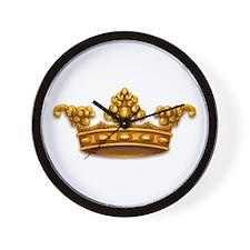 Gold King Crown Wall Clock