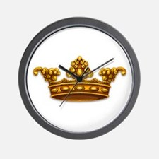 Gold King Crown Wall Clock