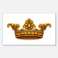 Gold King Crown Rectangle Decal