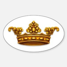 Gold King Crown Oval Decal