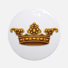 Gold King Crown Ornament (Round)