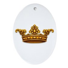 Gold King Crown Oval Ornament
