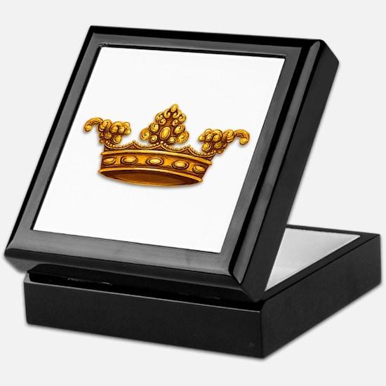 Gold King Crown Keepsake Box