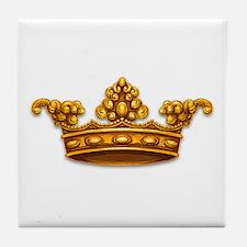 Gold King Crown Tile Coaster