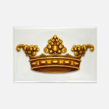 Gold King Crown Rectangle Magnet