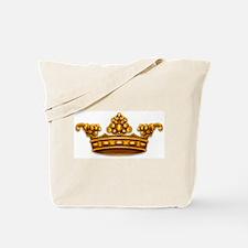 Gold King Crown Tote Bag