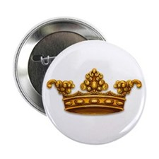 Gold King Crown Button