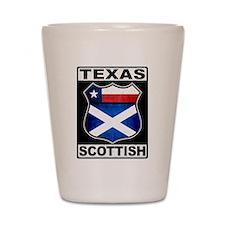 Texas Scottish American Shot Glass