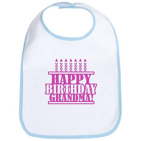 Happy Birthday Grandma Bib