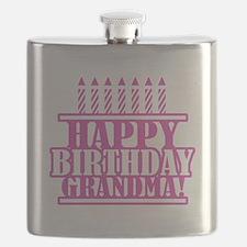 Happy Birthday Grandma Flask