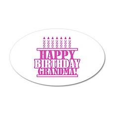 Happy Birthday Grandma Wall Decal
