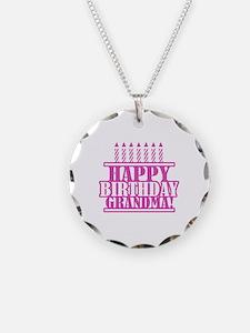 Happy Birthday Grandma Necklace