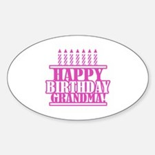 Happy Birthday Grandma Decal