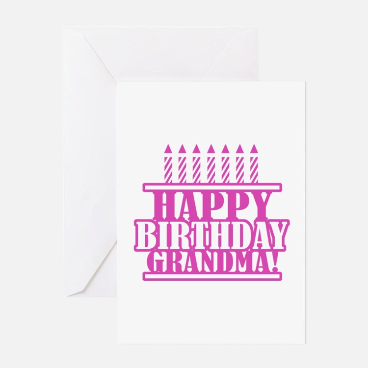 Happy Birthday Grandma Greeting Cards