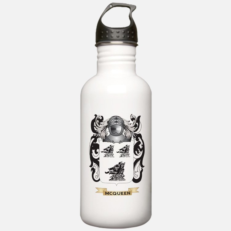 McQueen Coat of Arms - Family Crest Water Bottle